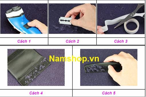 Các cách để loại bỏ cục len xù trên quần tất nam