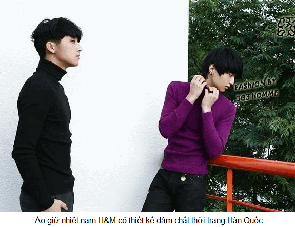 Áo giữ nhiệt nam hiệu H&M xuất Hàn Quốc, mong cách trẻ trung