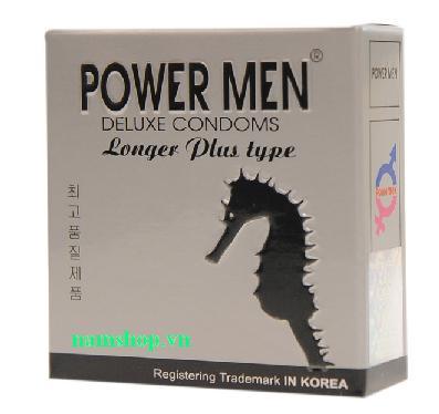 Bao cao su Power Men Longer Plus chống xuất tinh sớm