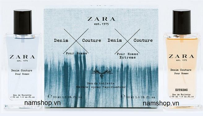 Bộ nước hoa nam Zara Denim Couture Pour Homme Xtreme
