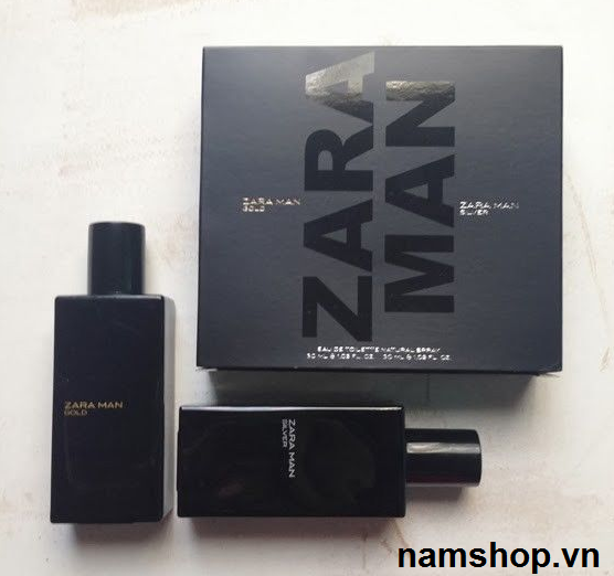 Bộ nước hoa nam Zara Man Gold và Zara Man Silver