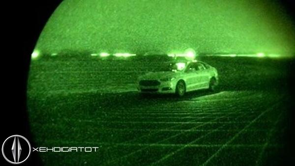 Ford Fusion tự hành trong đêm