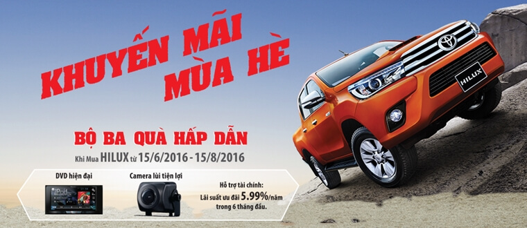 khuyến mại xe Toyota Hilux 2016