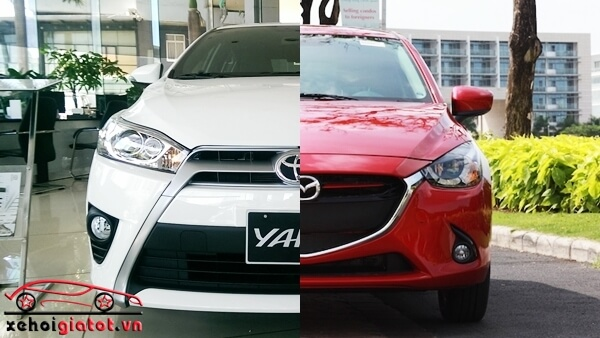 so sanh xe Yaris va Mazda2