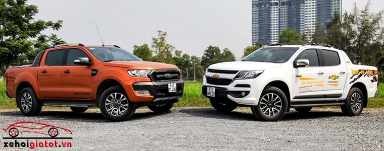 So sánh xe Ford Ranger Wildtrak và Chevrolet Colorado High Country