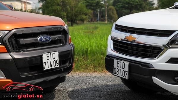 Lưới tản nhiệt xe Ford Ranger và Chevrolet Colorado