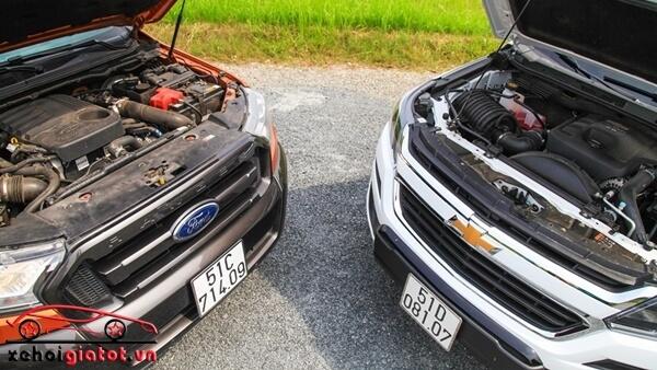 Động cơ xe Ford Ranger Wildtrak và Chevrolet Colorado High Country
