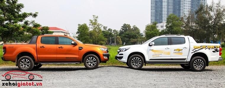 Thân xe Ford Ranger và Chevrolet Colorado