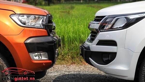 Cản trước xe Ford Ranger và Chevrolet Colorado