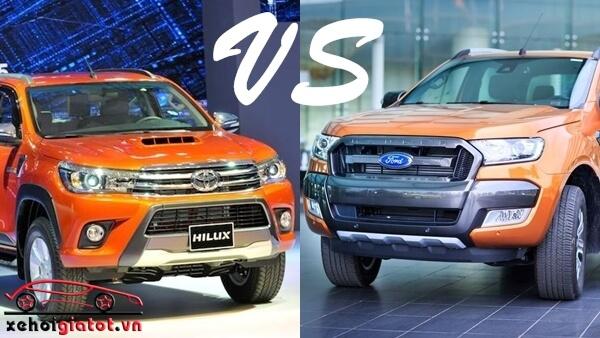 so sánh xe Ford Ranger Wildtrak và Toyota Hilux G