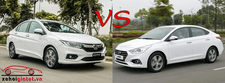 So sánh xe Honda City và Hyundai Accent