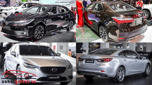 So sánh xe Toyota Corolla Altis và Mazda 6