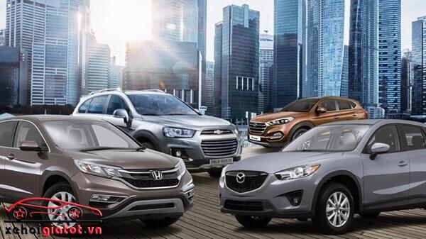 So sánh xe Honda CR-V, Captiva và Mazda CX-5, Hyundai Tucson