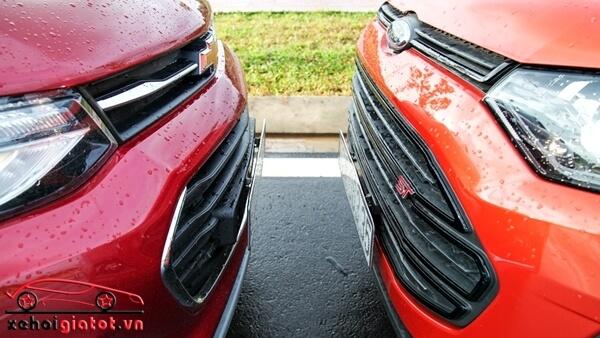 Lưới tản nhiệt xe Ford EcoSport Titanium Black và Chevrolet Trax LT
