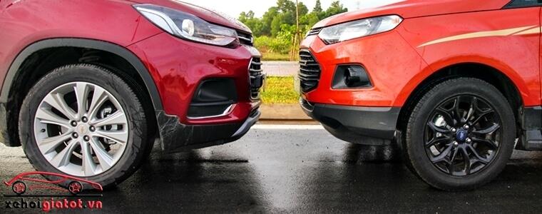 Vành la-zăng xe Ford EcoSport Titanium Black và Chevrolet Trax LT