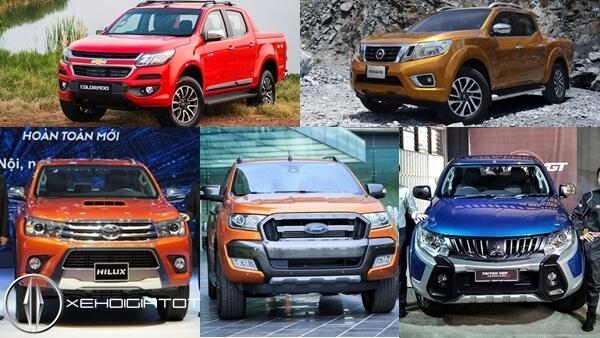 Top 5 mẫu xe bán tải tiết kiệm nhiên liệu nhất tại Việt Nam