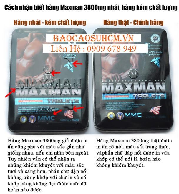 Cách phân biệt Thuốc Maxman 3000mg giả - Kém chất lượng