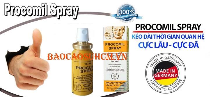 Cách quan hệ lâu ra với Procomil Spray