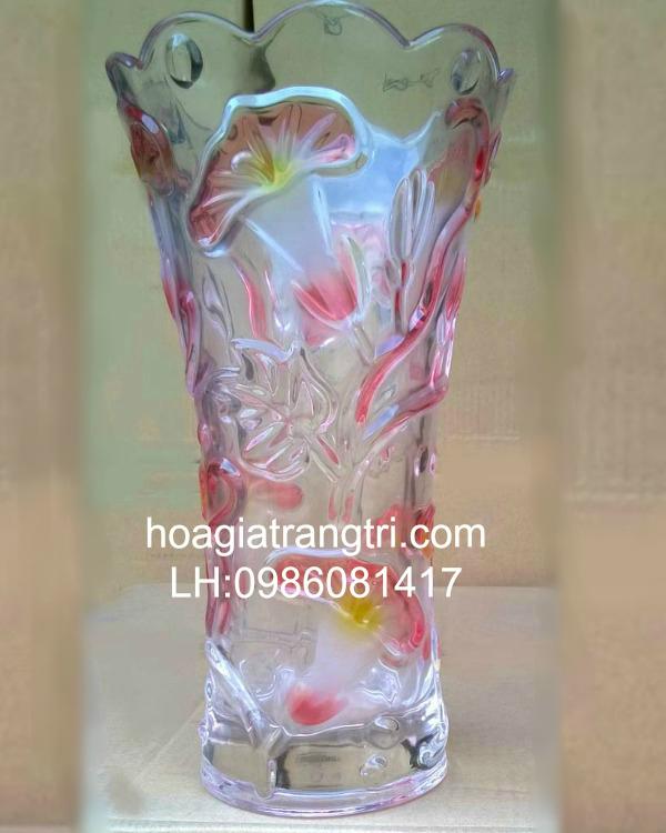 Bình hoa giả để bàn đẹp bằng thủy tinh