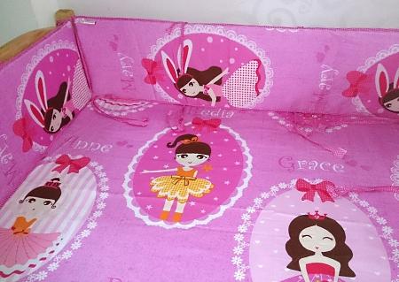 quây cũi trẻ em hình công chúa múa ba lê