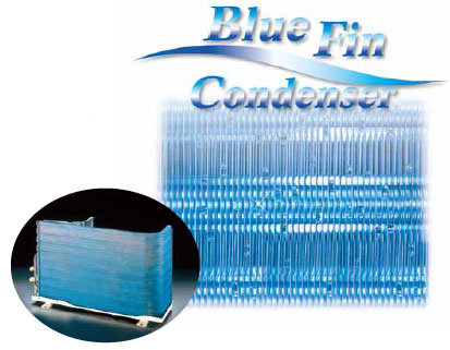 điều hòa panasonic dàn tản nhiệt màu xanh