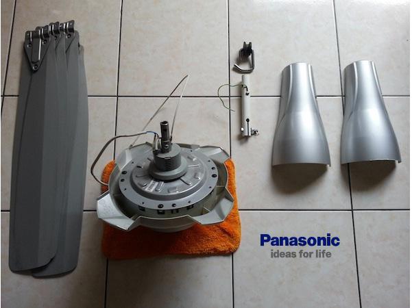 cách lắp quạt trần Panasonic bước 1