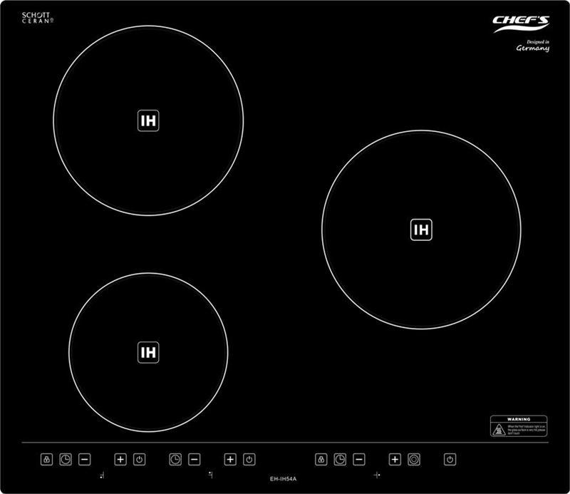 Bếp từ ba Chef's EH-IH54A với 3 bếp từ đơn với 3 bếp từ đơn có giá thêm khảo 13.000.000đ