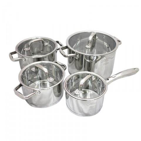 Bộ nồi Elmich 4 chiếc 5 đáy chuyên dụng cho bếp từ