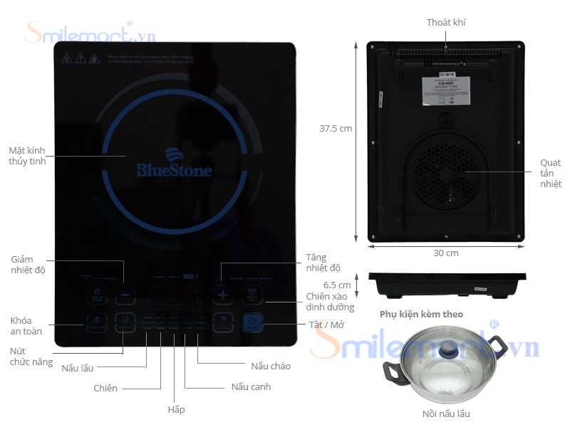 Bếp từ Bluestone ICB-6667