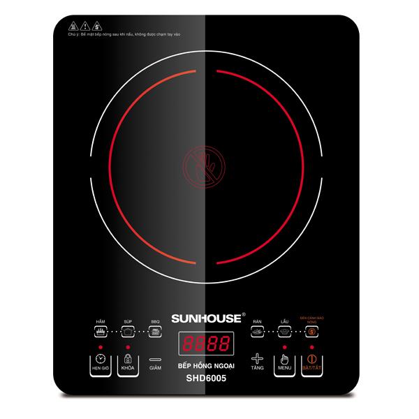 Bếp hồng ngoại cảm ứng Sunhouse SHD6005. Gía bán: 850.000đ