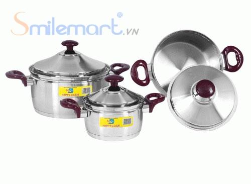 Bộ nồi Inox Happy Cook HC 06C-1