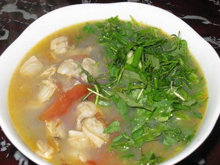 Canh ngao chua là món ăn giải nhiệt tuyệt vời cho mùa hè nóng nực