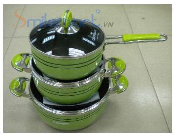Bộ nồi 3 chiếc Cookplaza SY-TS3P (3 nồi to)