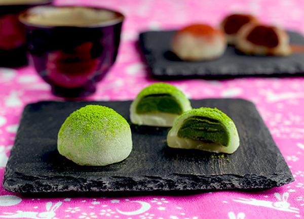Bánh mochi hương vị trà xanh ngọt mát, sức hấp dẫn không thể chối từ