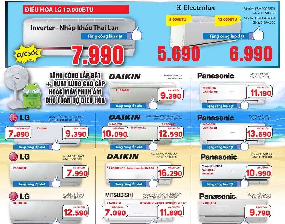 Siêu thị điện máy Picomart giảm giá