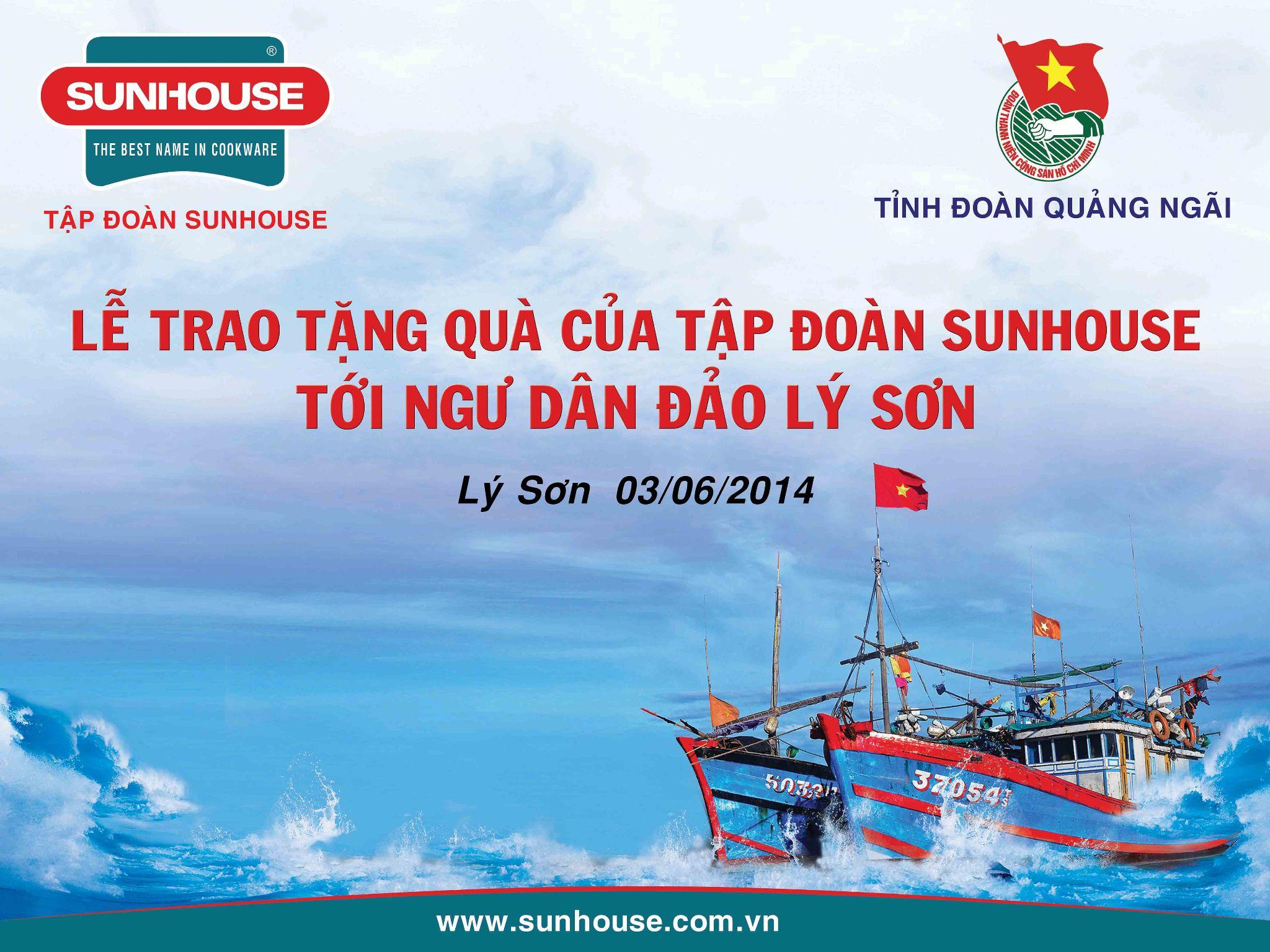 Cùng Sunhouse ủng hộ nhân dân huyện đảo Lý Sơn