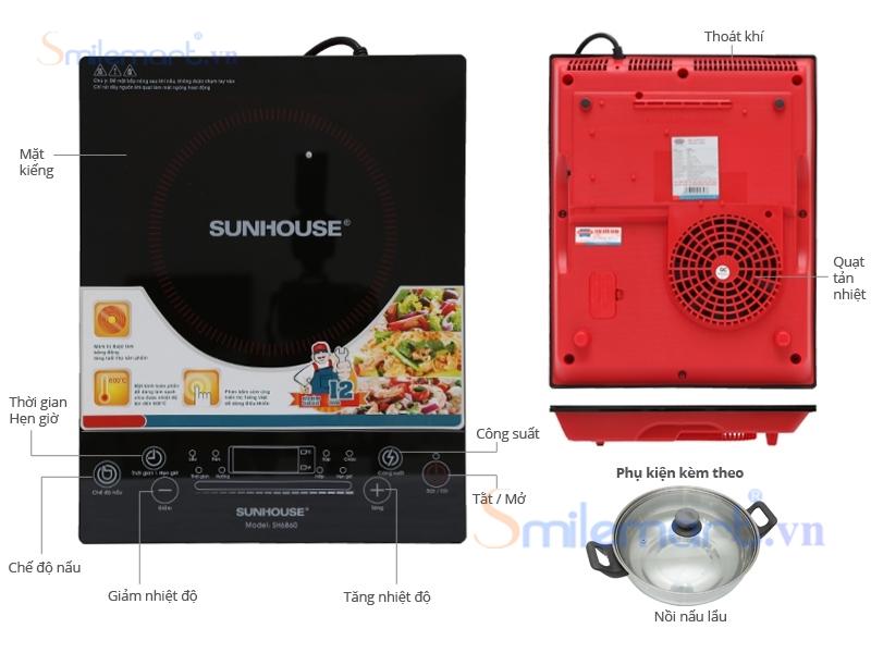 Bếp từ Sunhouse SH6860. Gía bán 1000.000đ