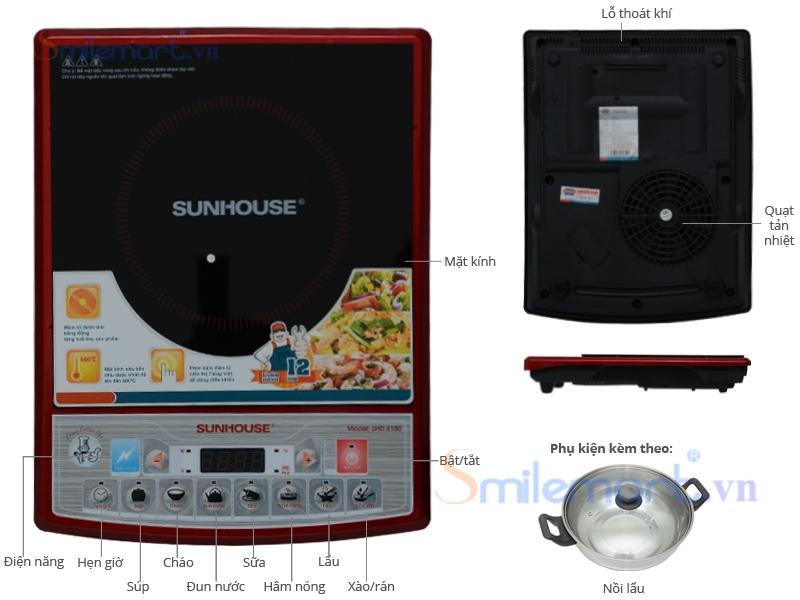 Bếp từ Sunhouse SH 6180. Gía bán: 780.000đ