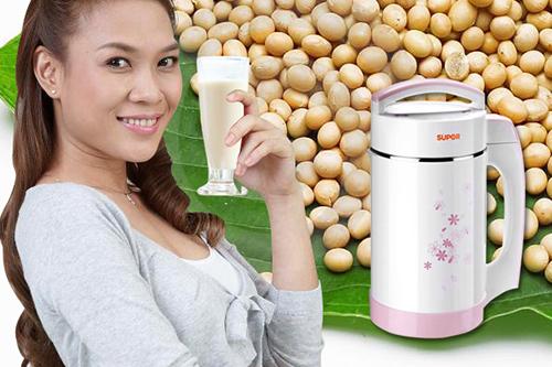 Máy làm sữa đậu nành Supor DJ16B-W41GV có nút nhấn thao tác rất đơn giản