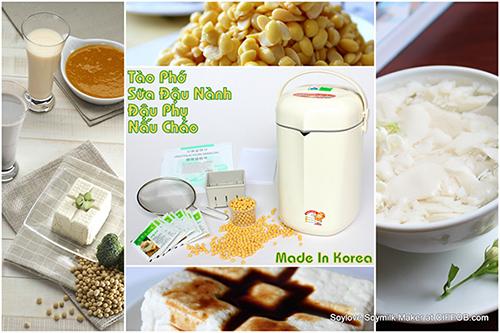 Máy làm sữa đậu nành đa năng Soylove IOM-201A tích hợp ba chức năng làm sữa đậu nành, tào phớ và đậu phụ