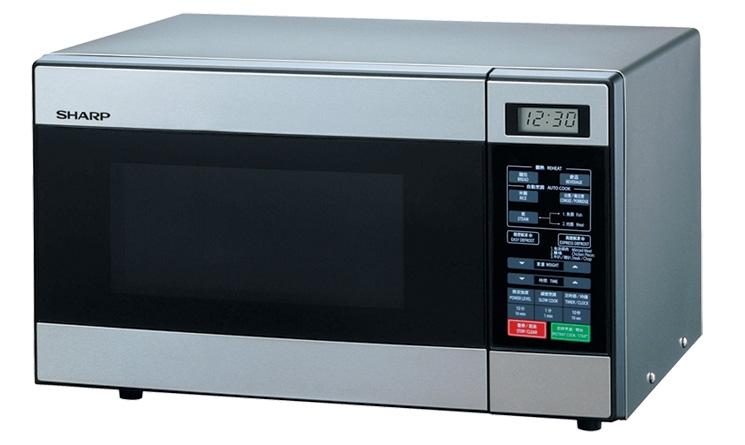 Lò vi sóng Sharp R-299VN (S) được thiết kế với bảng điều khiển điện tử hiện đại