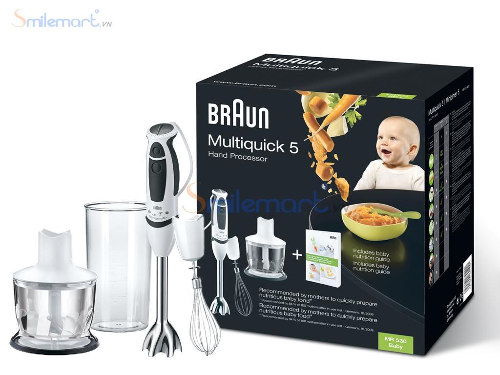 Braun dòng máy xay được nhiều bà nội trợ dùng nhiều nhất trên thị trường