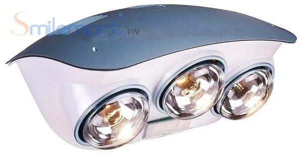 Loại đèn ba bóng phù hợp với diện tích phòng tắm rộng
