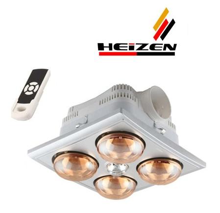 Đèn sưởi nhà tắm âm trần Heizen HE-4BR
