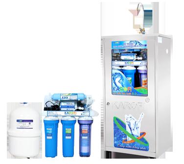 Máy lọc nước Karofi  loại bình áp nhựa