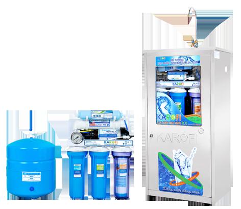 Máy lọc nước Karofi thông minh 8 lõi bình áp nhựa