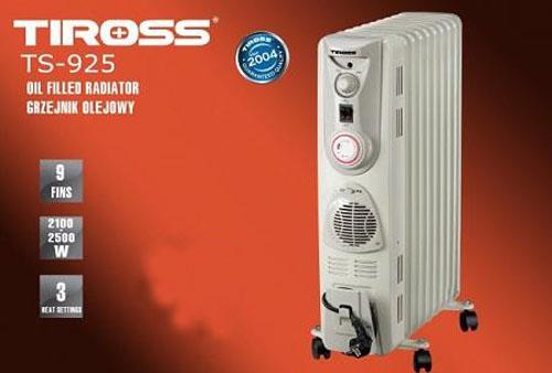 Máy sưởi dầu Tiross TS 925 bảo vệ sức khỏe của bạn khi đông về
