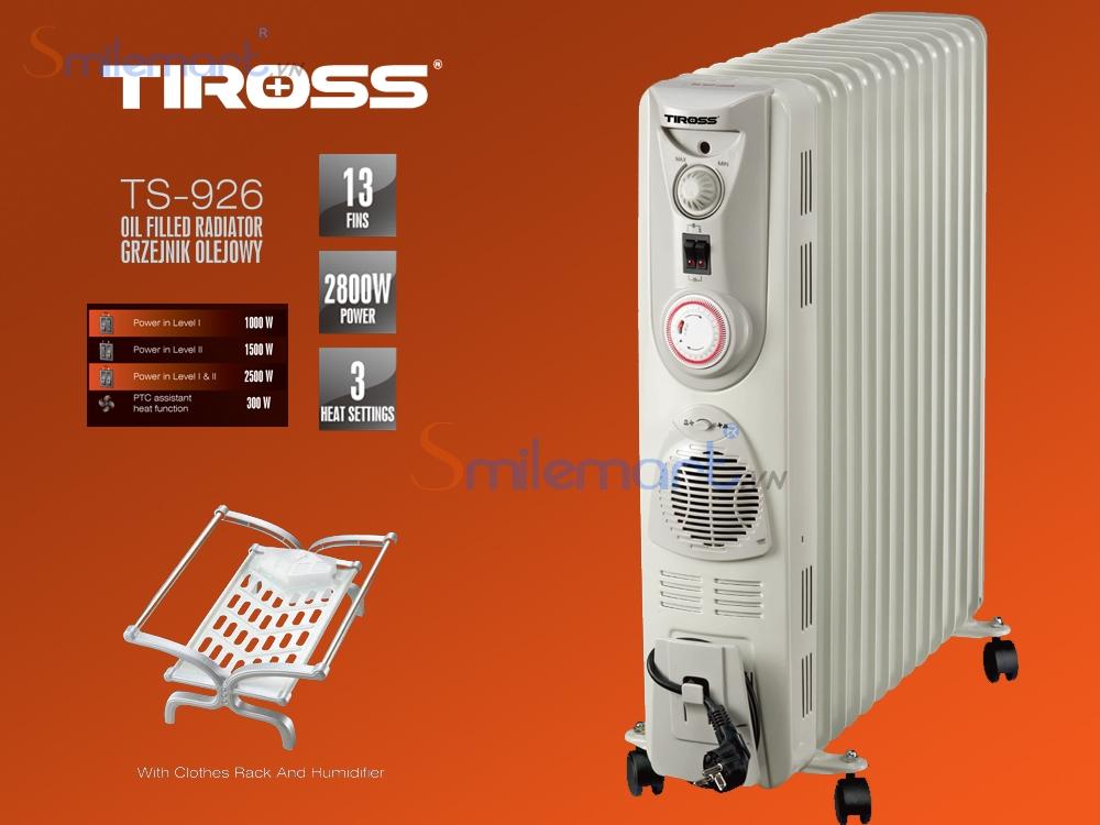 2. Lò sưởi dầu 13 thanh Tiross TS926