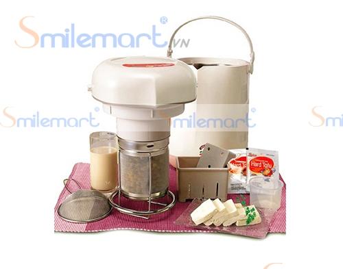 Máy làm sữa đậu nành Soylove có đủ bộ đồ nghề để làm tào phớ và đậu phụ