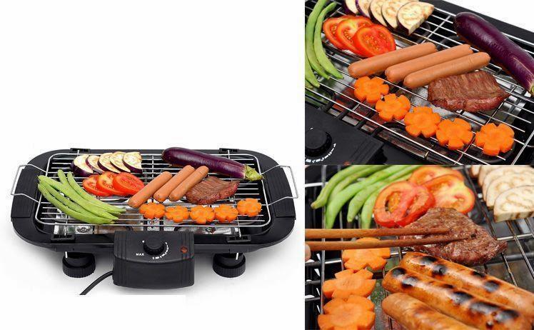Vỉ nướng điện nướng cùng lúc nhiều món ăn
